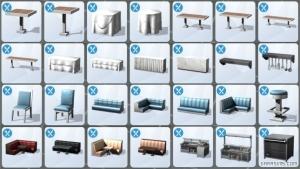 Новые предметы в Sims 4 В ресторане