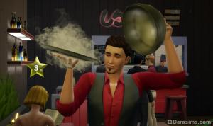 Официант Симс 4 в ресторане