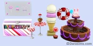 Новые объекты в Sims 3 Sweet treats