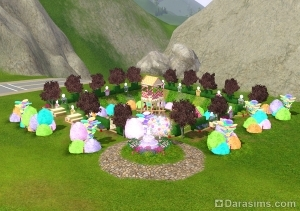 Парк Карамельная лужайка в Симс 3