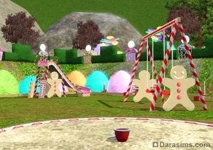 Общественный парк в Симс 3 сладкие радости