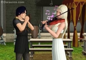 сим восхищен игрой на скрипке