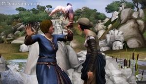 Нападение птицы на сима в Sims Medieval