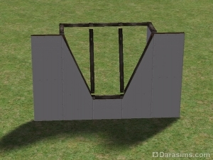 Что будет, если построить стены по бокам от короткой стороны окна