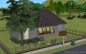 Дом с наклонным окном в The Sims 2