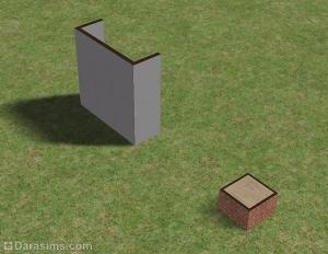 Фундамент рядом со стеной