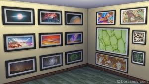Микроотпечатки и космические снимки в Симс 4