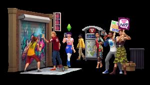 Рендер для дополнения «The Sims 4 Жизнь в городе»