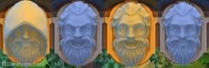 Гипсовое лицо над колодцем желаний