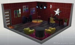 стилизованная комната в карьере исполнителя