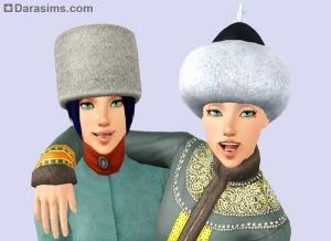 Женские шапки в Симс 3