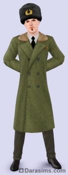 Мужская шинель в Sims 3 Store