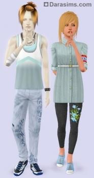 Одежда для подростков в Симс 3