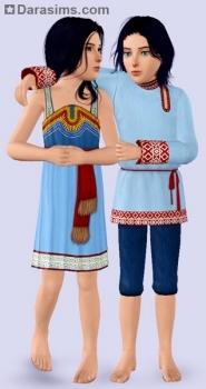 Славянская одежда в Sims 3