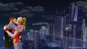 Влюбленная парочка в Симс 4 Жизнь в городе