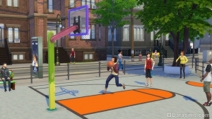 баскетбол в The Sims 4 Жизнь в городе