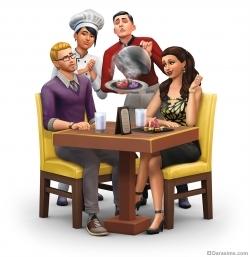 Симс 4 В ресторане: рендер