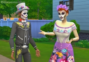 Испытание День мертвых в Sims 4