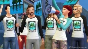 митинги в the sims 4 жизнь в городе