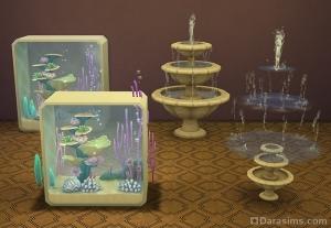 Габариты аквариумов и фонтанов