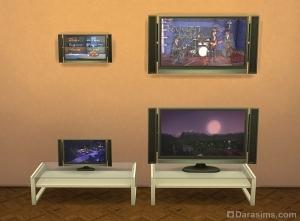 Симс 4 уменьшение телевизоров