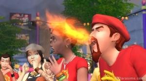 симы на фестивале специй в sims 4 жизнь в городе