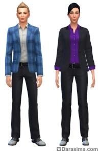 униформа повествователя в The Sims 4