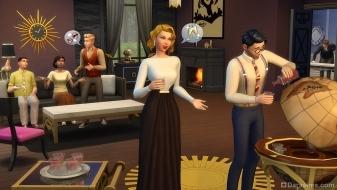 Глобус-бар из каталога «The Sims 4 Гламурный винтаж»