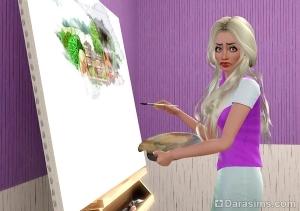Симс 3: урок по замене игровых картин, которые рисуют художники
