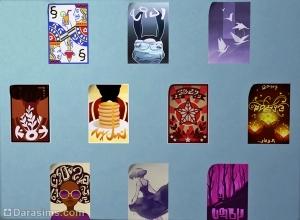 Коллекция городских плакатов в Симс 4 Жизнь в городе