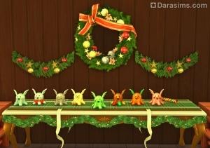 Коллекция игрушек из праздничных хлопушек в Sims 4