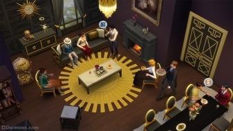 Гостиная из каталога «The Sims 4 Гламурный винтаж»