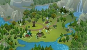 Карта городка Гранит Фоллз