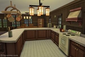 Кухня в жилище Приют у озера