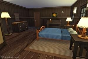 Спальня в приюте у озера