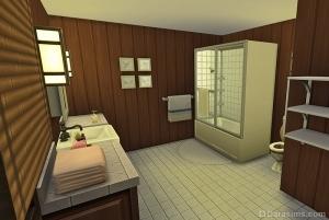Ванная комната в приюте у озера