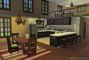 кухня в лесном убежище