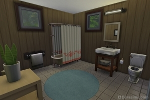 Ванная в лесном убежище из Симс 4