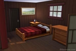Кровать в приюте у озера