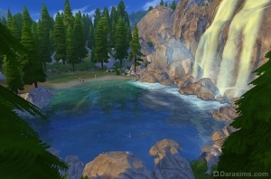 Водопад в Симс 4 в поход