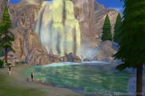 Водопад в лесу Гранит Фоллз
