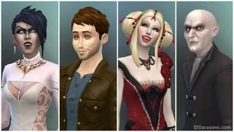 Внешность вампиров в наборе The Sims 4 Вампиры