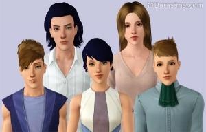 Пара персонажей и похожие на них потомки