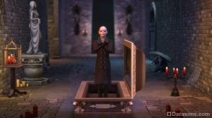вампир и кровать-гроб в симс 4