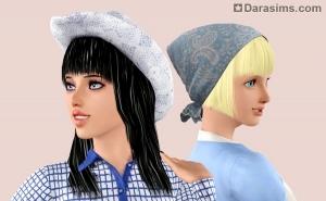 Женская шляпа и косынка в Симс 3 Стор