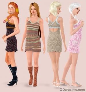 Платье из CAS в Симс 3