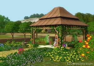 Садовая беседка из Sims 3 Store