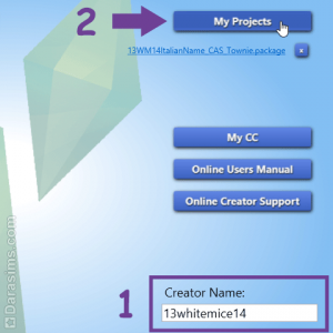 Создание проекта в Sims 4 Studio