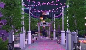 Свадебная арка на фестивале романтики