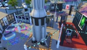 Ракета и обсерватория на фестивале